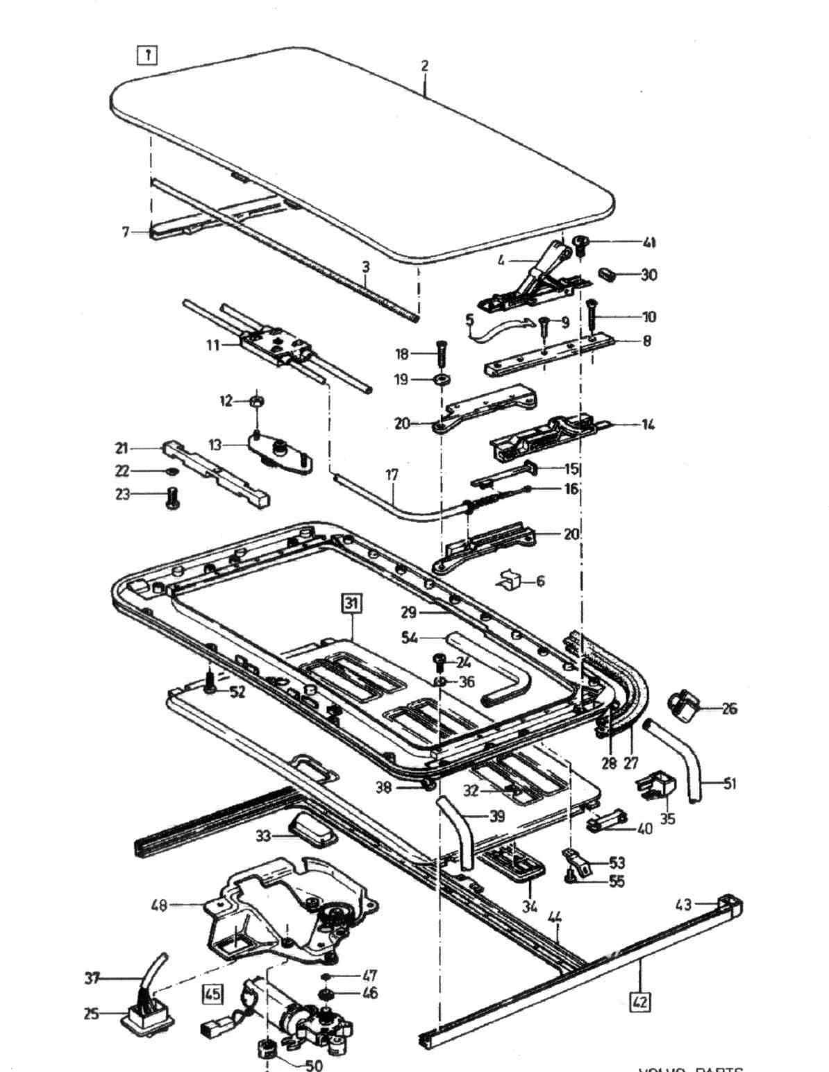 volvo v70 sunroof parts diagram  volvo  auto wiring diagram